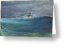 Great White Fleet In A Squall Greeting Card