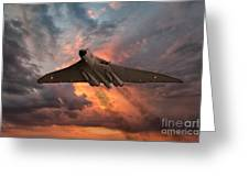 Great White Vulcan Greeting Card