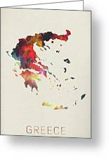Greece Watercolor Map Greeting Card