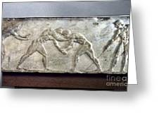 Greece: Wrestlers Greeting Card