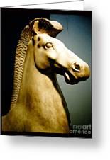Greek Horse Statue Greeting Card