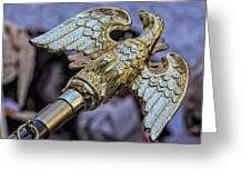 Greek Independence Day 4_10_16 Brass Eagle Greeting Card