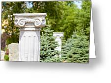 Greek Ionic Columns Greeting Card