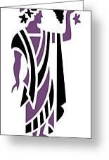 Greek Man In Purple Greeting Card