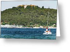 Greek Orthodox School And The Sea Of Marmara Greeting Card