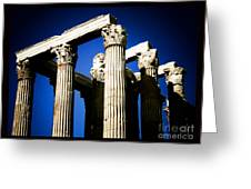 Greek Pillars Greeting Card
