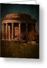 Greek Temple Monument War Memorial Greeting Card