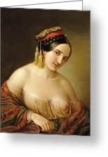 Greek Woman Greeting Card