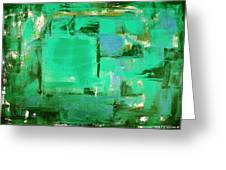 Green Abstract Greeting Card