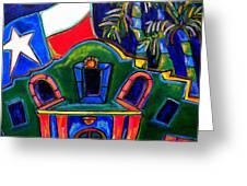 Green Alamo Greeting Card