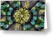 Green And Blue Stones 2 Greeting Card
