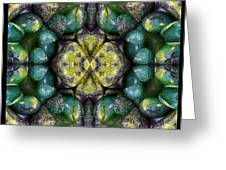 Green And Blue Stones 3 Greeting Card