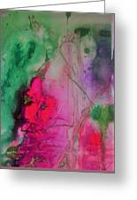 Green And Pink Greeting Card