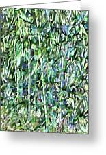 Green Bamboo Tree In A Garden Greeting Card