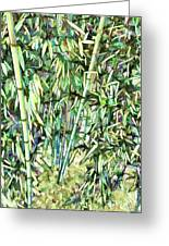 Green Bamboo Tree Greeting Card