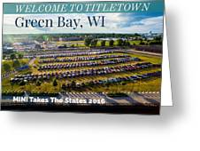 Green Bay Evening 1 W/text Greeting Card
