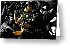 Jordy Nelson Lambeau Leap Greeting Card