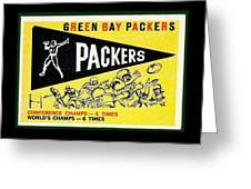 Green Bay Packers 1959 Pennant Greeting Card