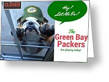 Green Bay Packers Greeting Card by Kathy Tarochione
