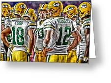 Green Bay Packers Team Art 2 Greeting Card