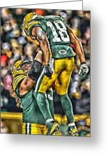 Green Bay Packers Team Art Greeting Card