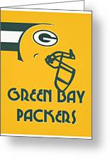 Green Bay Packers Team Vintage Art Greeting Card
