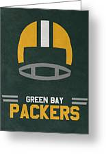 Green Bay Packers Vintage Art Greeting Card