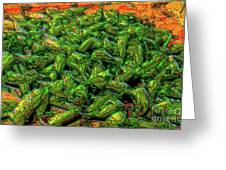 Green Bean Montage Greeting Card