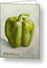 Green Bell Pepper Greeting Card