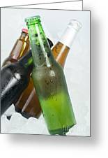 Green Bottle Of Beer Greeting Card by Deyan Georgiev