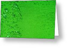 Green Bubbles 2 Greeting Card