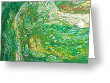 Green Cells Greeting Card