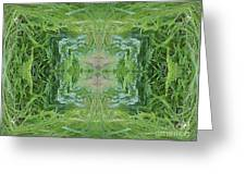 Green Fractal Greeting Card