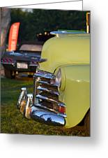 Green Chevy Greeting Card