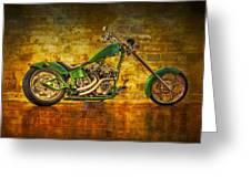 Green Chopper Greeting Card