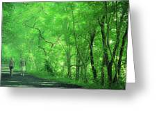 Green Creeper Greeting Card