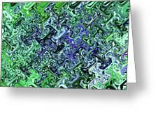 Green Crystal Digital Abstract Greeting Card
