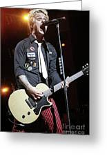 Green Day Billie Joe Armstrong Greeting Card