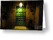 Green Door Greeting Card