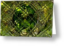 Green Emerald And White Diamond Brooch Distortion Aa H A Greeting Card