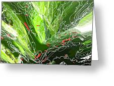 Green Explosion Greeting Card