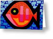 Green Eyed Fish  Greeting Card by John  Nolan
