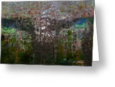 Green Eyes' Reflections Greeting Card