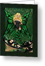 Green Fairy Of Poison Greeting Card