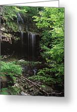 Green-falls Greeting Card