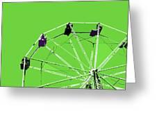 Green Ferris Wheel Greeting Card