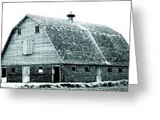 Green Field Barn Greeting Card