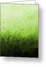 Green Fire Greeting Card