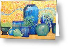 Green Fish And Friends Greeting Card