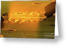 Green Flash Sunset II Greeting Card
